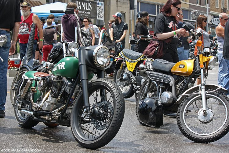 Bikes at Rockers Reunion 2015