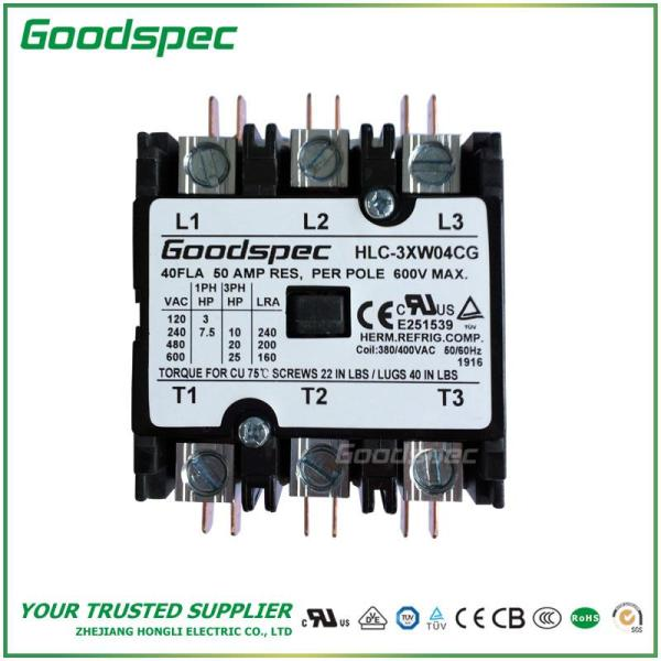 HLC-3XW04CG(3P/40A/308-400VAC) DEFINITE PURPOSE CONTACTOR