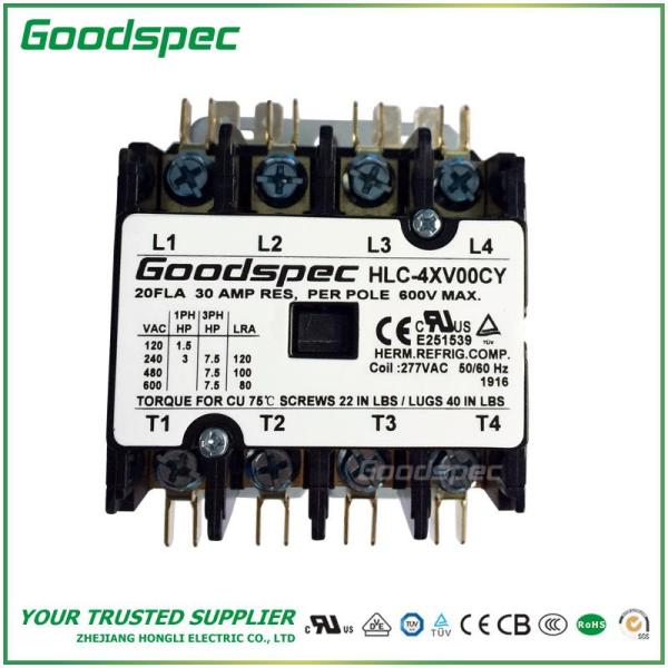 HLC-4XV00CY(4P/20A/277V)DEFINITE PURPOSE CONTACTOR