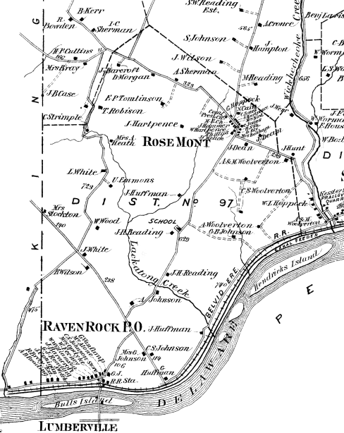 Detail from Beers, Comstock & Cline, Atlas of Hunterdon County, NJ
