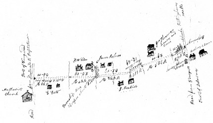 Map of Featherbed Lane, from Hunterdon Road Records