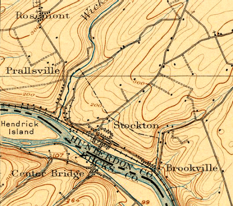 Detail of USGS Map of New Jersey, 1906