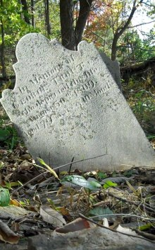 Gravestone of George Trout, photographed by Bob and Leslie Leith