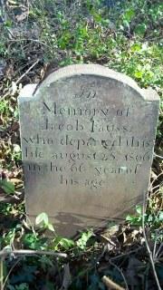 gravestone of Jacob Fauss