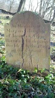 gravestone of Margaret Hainds
