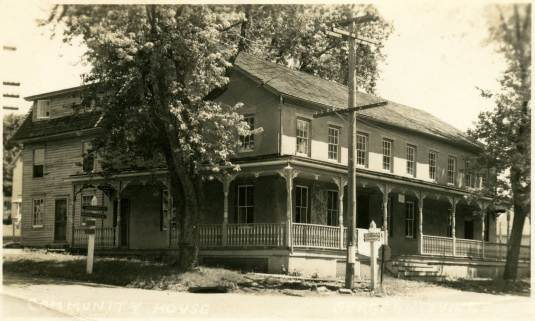 Delaware Township Hall in the 1920s