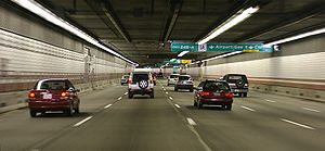 Interstate I-93 Tunnel in Boston, part of the ...