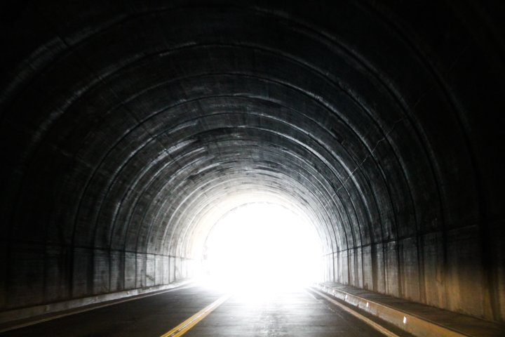 Bright Light at End of Dark Tunnel