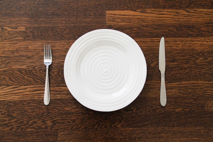 Empty Plate with Fork & Knife