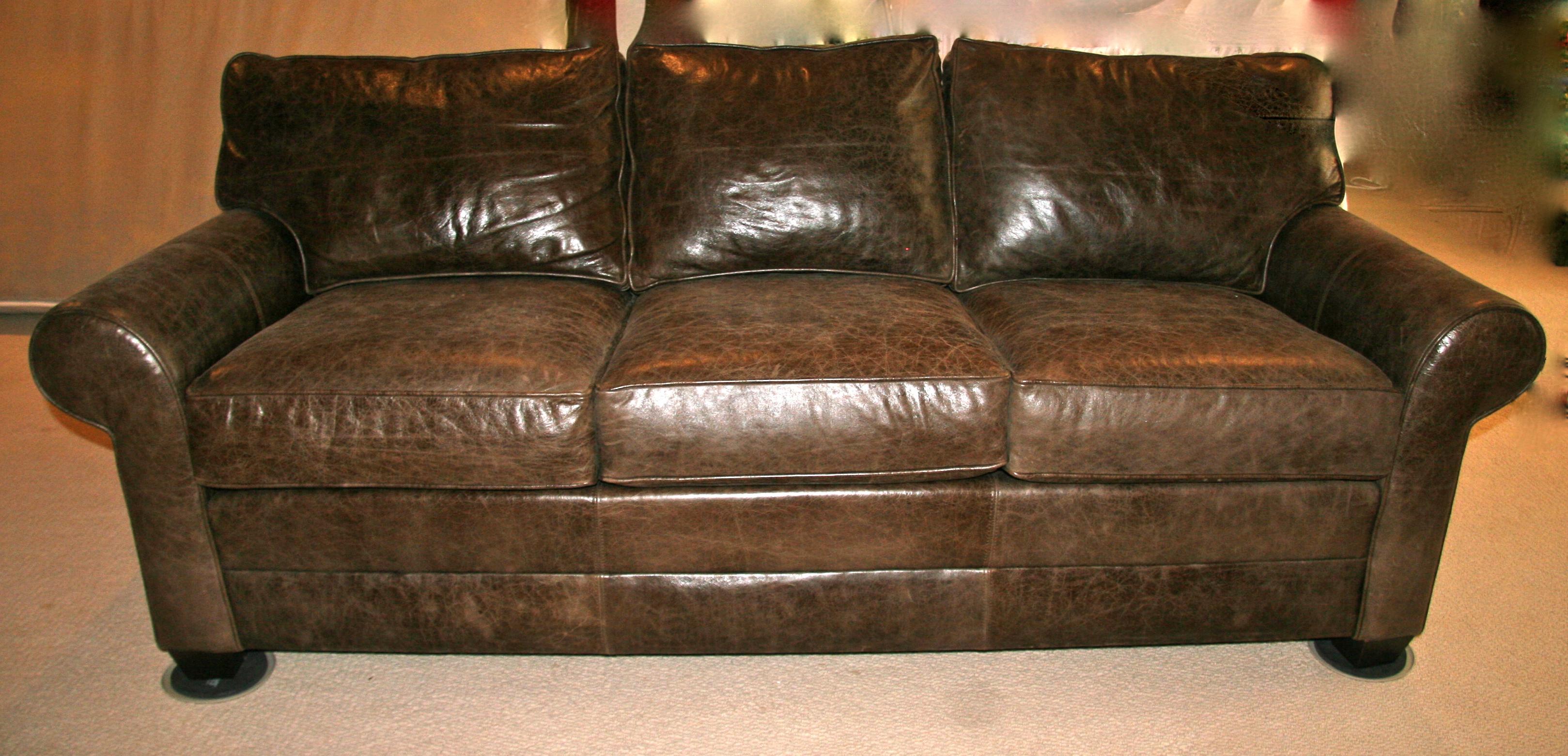 ethan allen leather chair neutral posture xsm brown sofa goodstuffcheapstl s blog