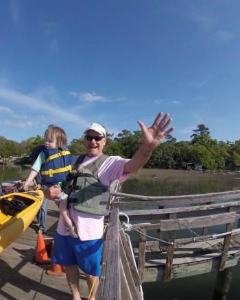 Toddler kayaking hilton head