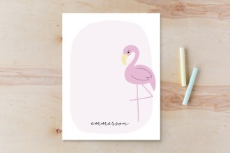 Kids thank you cards - flamingo