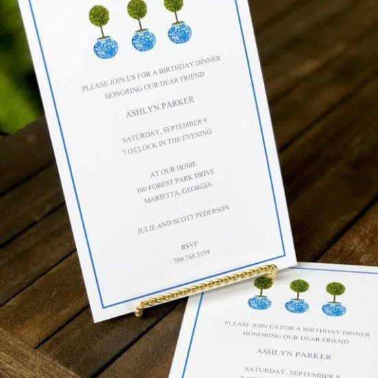 topiary invitations