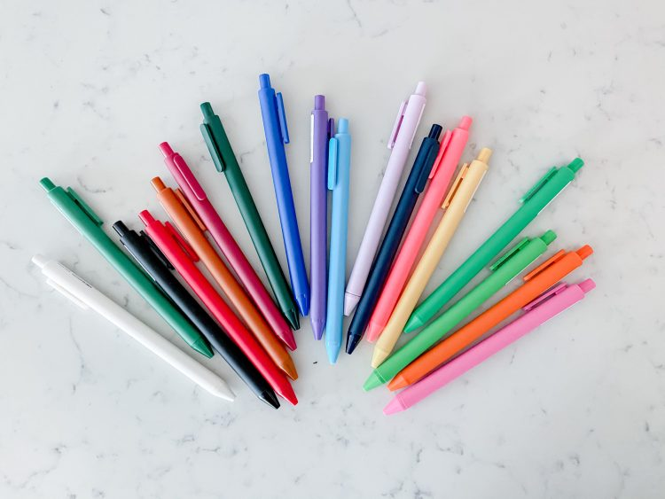 Set of Colorful Extra Fine Point Pens