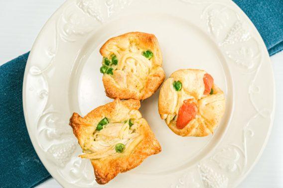 Crescent roll mini chicken pot pies