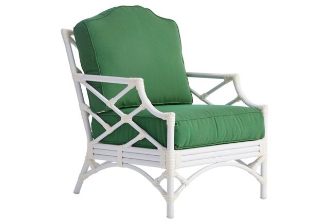 Glossy White Bamboo Chippendale Chair from One Kings Lane