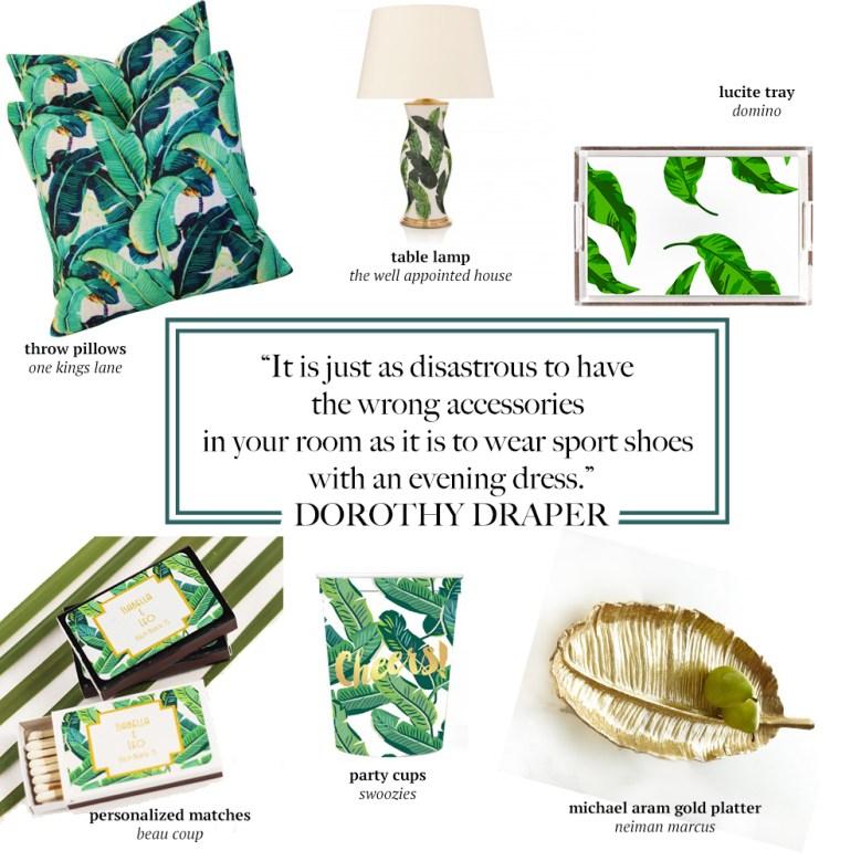 banana leaf dorothy draper