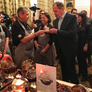 «Гастрономическая карта России» новогодний приём Министра иностранных дел РФ