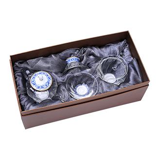 Фьюжн комплект для восточных чаепитий с синим орнаментом