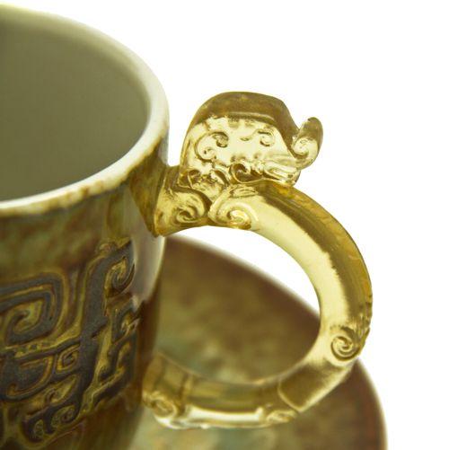 Чайные пары с ручками-инками (2 пары). Мастер Lee