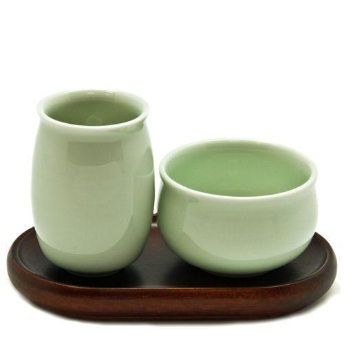 Церемониальная чайная пара «Голубой бочонок»