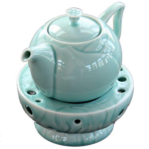 Чайник и подставка «Лотос» (селадон)