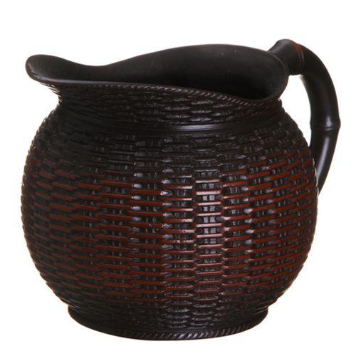 Глиняный чахай-сливник «Бамбуковая корзина» (360 мл)