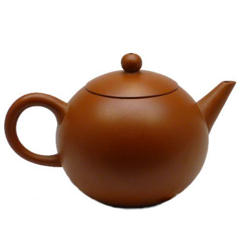 Глиняный клеймёный чайник (200 мл, коричневый)