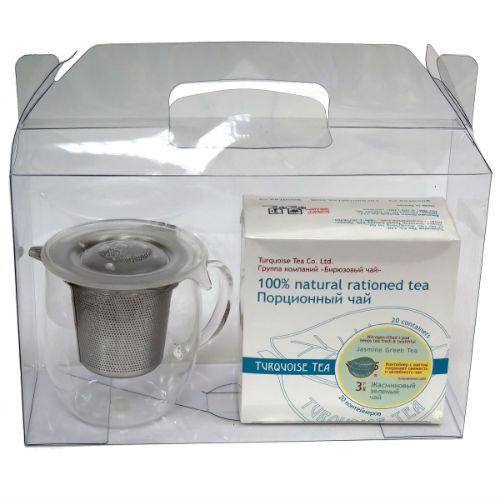 Подарочный набор из кружки с инфьюзером и порционного чая
