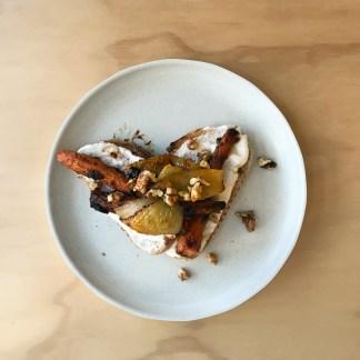 Miso carrot toast
