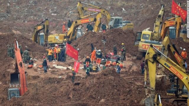 Landslide in China