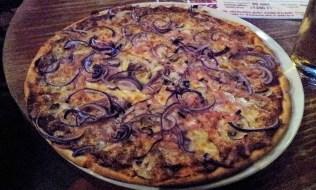 The tuna pizza