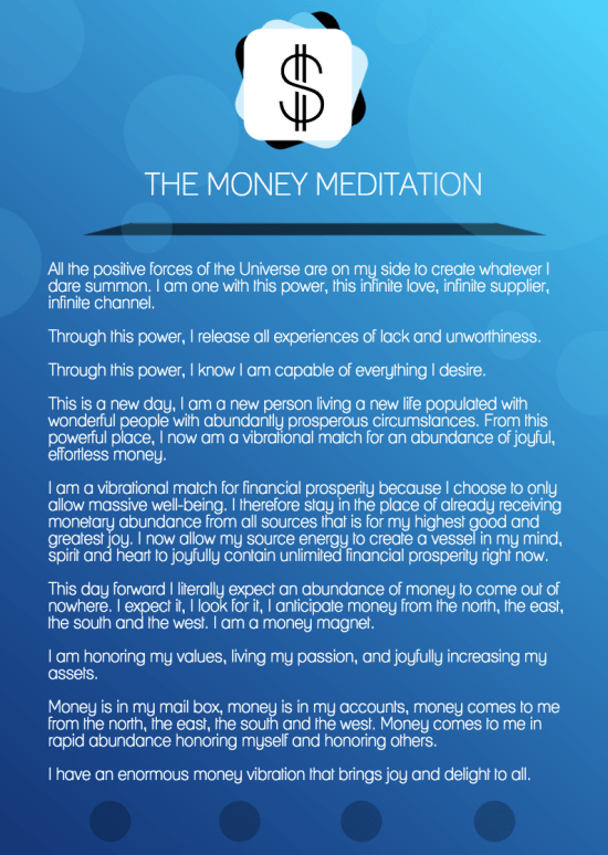 The Money Meditation