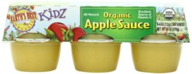 Earth's Best Kidz Organic, Apple Sauce Cup, 6 Count