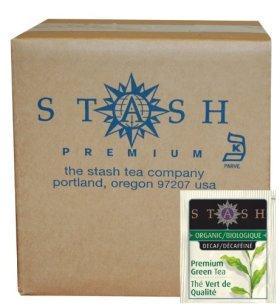 Stash Tea Organic Green Tea Bags in Foil, Decaf Premium, 100 Count