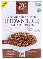One Degree Organic Foods Veganic Sprouted Brown Rice Cacao Crisps — 10 oz