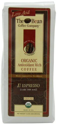 The Bean Coffee Company Il Espresso (Classic Dark Roast), Organic Ground, 16-Ounce Bags (Pack of 2)