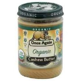 Once Again Organic Creamy Cashew Butter, 16 Ounce — 12 per case.
