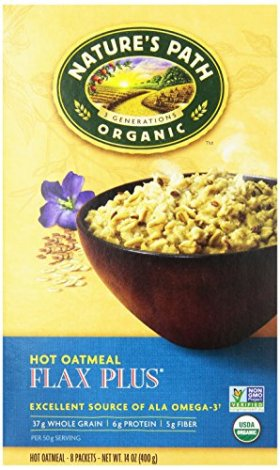 Nature's Path Organic Instant Hot Oatmeal Pouch Flax Plus, 8-Count Boxes (Pack of 6)