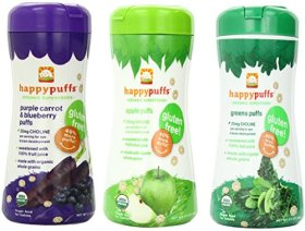 Happy Baby: Happy Puffs Purple Carrot Blueberry, 2.1 oz (3 pack)