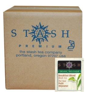 Stash Tea Organic Black Tea Bags in Foil, Breakfast Blend, 100 Count