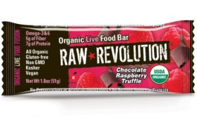 Raw Revolution Organic Live Food Bars,Chocolate Raspberry Truffle, 1.8-Ounce Bars (Pack of 12)