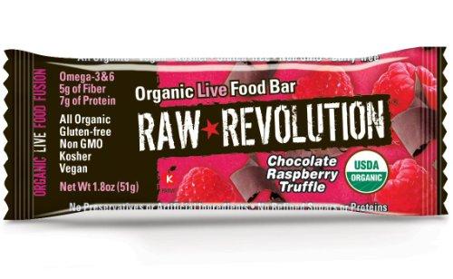 Raw Revolution Organic Live Food Bars,Chocolate Raspberry Truffle, 1.8-Ounce Bars (Pack of 12)