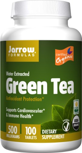 Jarrow FORMULAS Organic Green Tea, 500mg, 100 Count