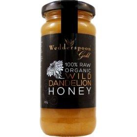 Wedderspoon Organic – 100% Raw Organic Wild Dandelion Honey – 11.46 oz.