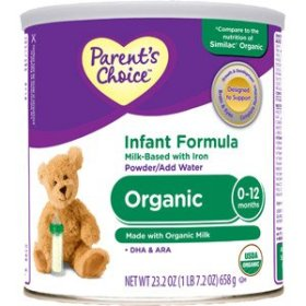 Parent's Choice Organic Infant Formula – 23.2 oz
