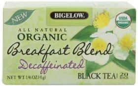 Bigelow Organic Breakfast Blend Decaffeinated Tea, 20 Count, 1.46 Ounce Box