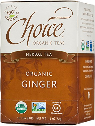 Choice Organic Ginger Herb Tea,1.1 Ounces 16 Count Box