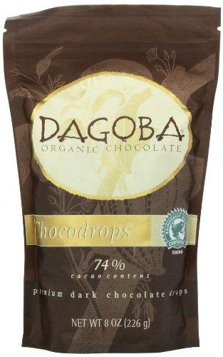 Dagoba Organic Chocolate Chocodrops 74% Cacao, 8.0 Ounce