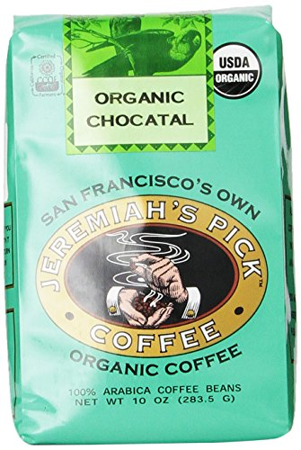 Jeremiah's Pick Coffee Organic Chocatal Ground Coffee 10 Ounce Bag